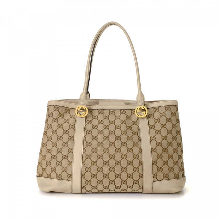 62466338029 Gucci GG Canvas Twins Tote GG Canvas - LXRandCo - Pre-Owned Luxury ...