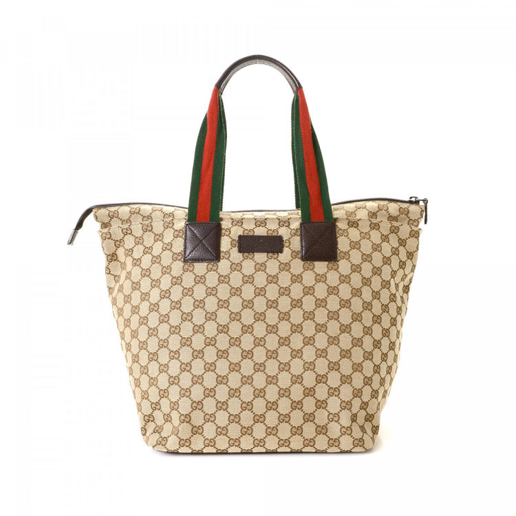 9a8c42328a13 Gucci GG Canvas Tote GG Canvas - LXRandCo - Pre-Owned Luxury Vintage