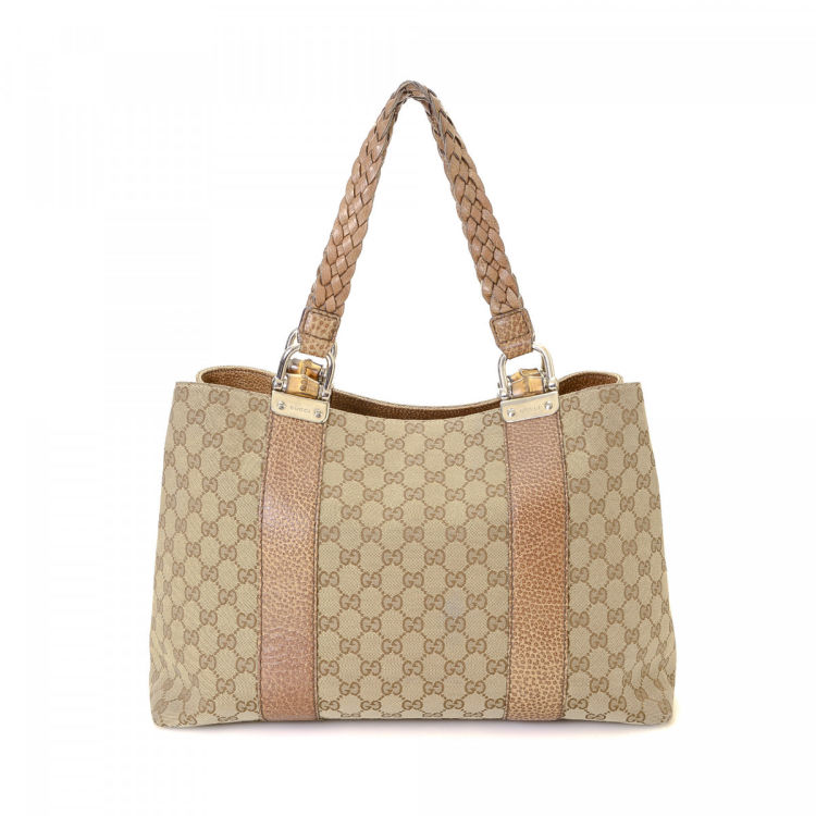 a75a4b5602bd Gucci GG Canvas Pelham Tote GG Canvas - LXRandCo - Pre-Owned Luxury ...