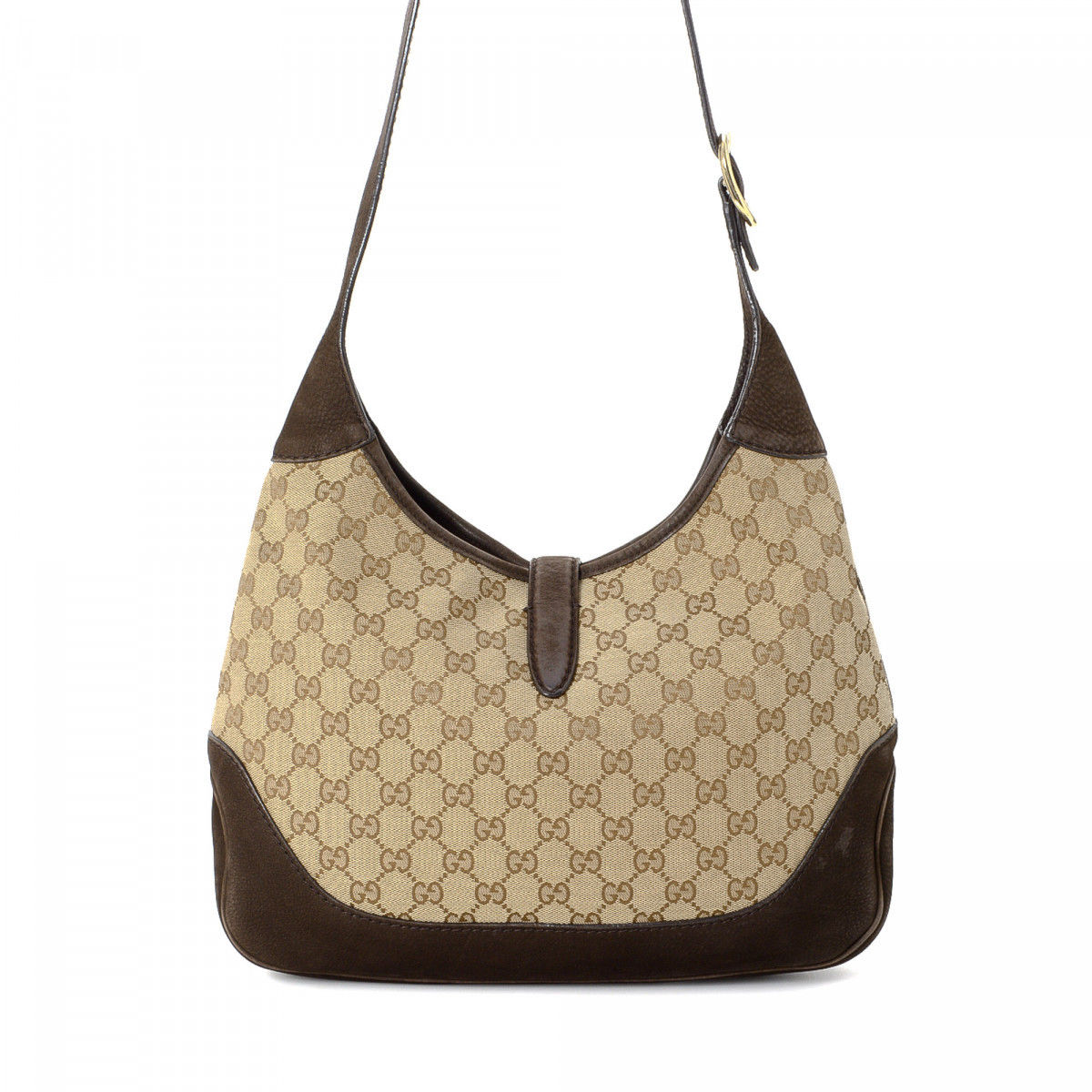 218d8db13eb Gucci Jackie Crossbody Bag GG Canvas - LXRandCo - Pre-Owned Luxury ...