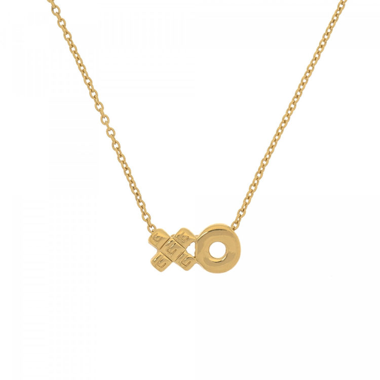 Givenchy xo pendant necklace gold plated metal lxrandco pre lxrandco guarantees this is an authentic vintage givenchy xo pendant necklace this sophisticated pendant necklace comes in gold tone gold plated metal aloadofball Choice Image