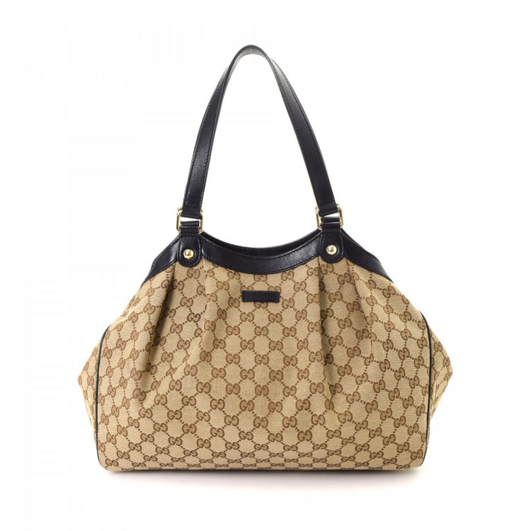 54026258a77 Gucci GG Canvas Shoulder Bag GG Canvas - LXRandCo - Pre-Owned Luxury ...