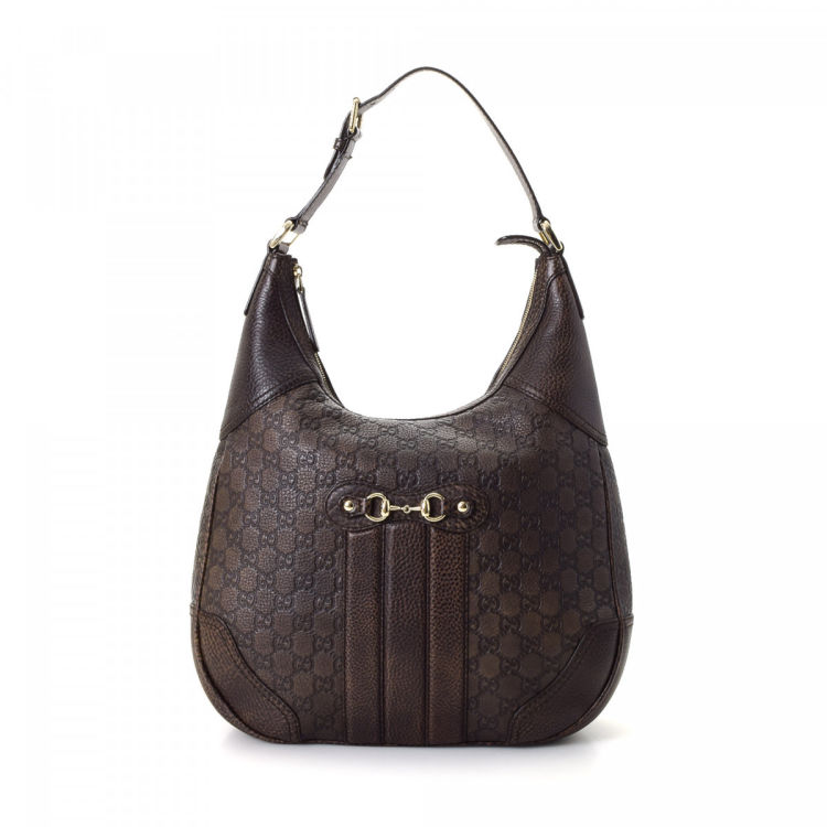 58c9efb2fb2d20 Gucci Guccissima Hobo Bag Guccissima Leather - LXRandCo - Pre-Owned ...
