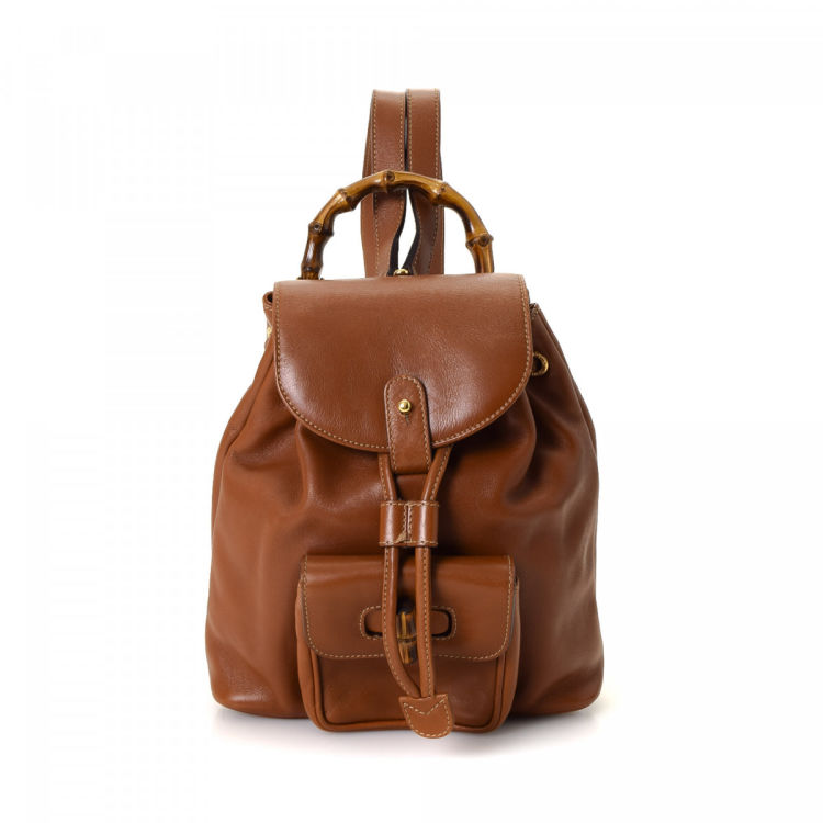 d43feacc725 Gucci Bamboo Backpack Leather - LXRandCo - Pre-Owned Luxury Vintage