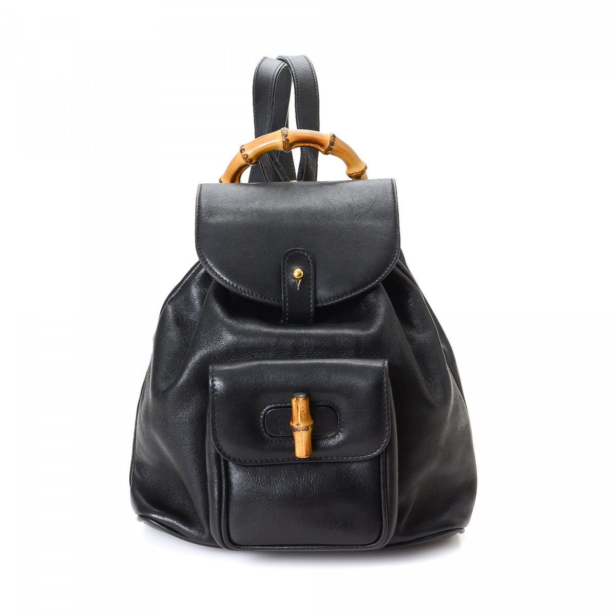 a9704ba0a2a Gucci Bamboo Backpack Leather - LXRandCo - Pre-Owned Luxury Vintage