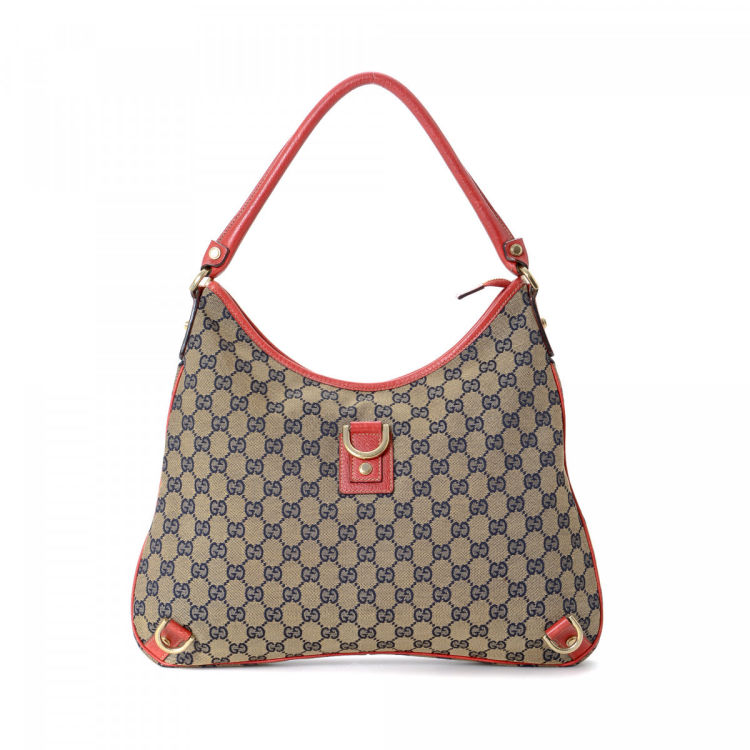ba05b11538b2 Gucci Abbey Hobo Bag GG Canvas - LXRandCo - Pre-Owned Luxury Vintage