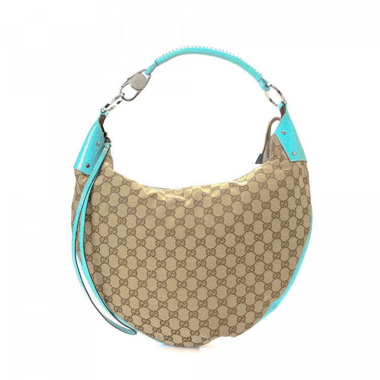 973d9959dee Gucci GG Canvas Hobo Bag GG Canvas - LXRandCo - Pre-Owned Luxury Vintage