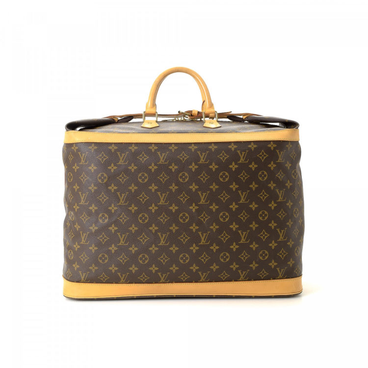 LXRandCo guarantees the authenticity of this vintage Louis Vuitton Cruiser  Bag 50 travel bag. This iconic weekend bag was crafted in monogram coated  canvas ... c7afce15d1