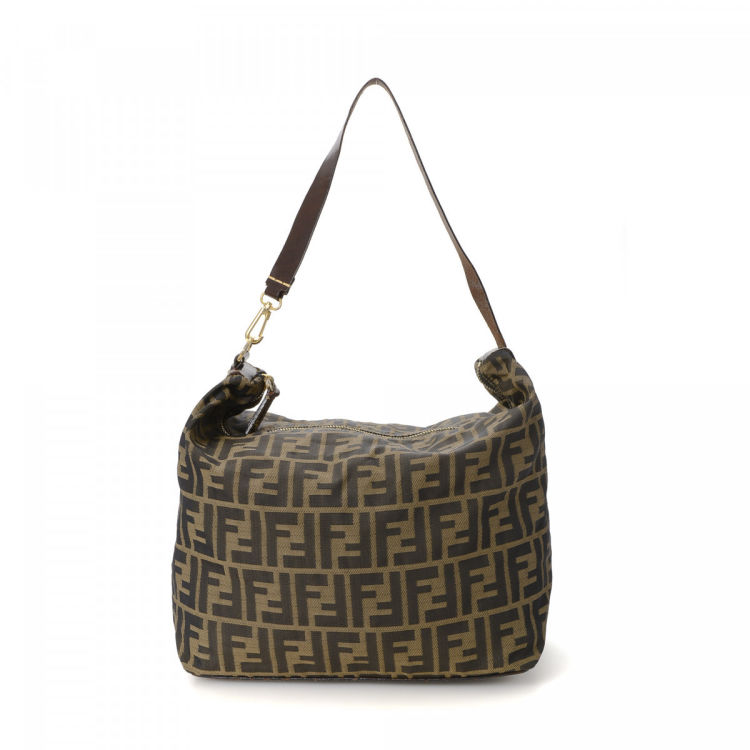 311129f15a68 ... reduced fendi zucca shoulder bag zucca canvas lxrandco pre owned luxury  vintage 399b8 a8c00
