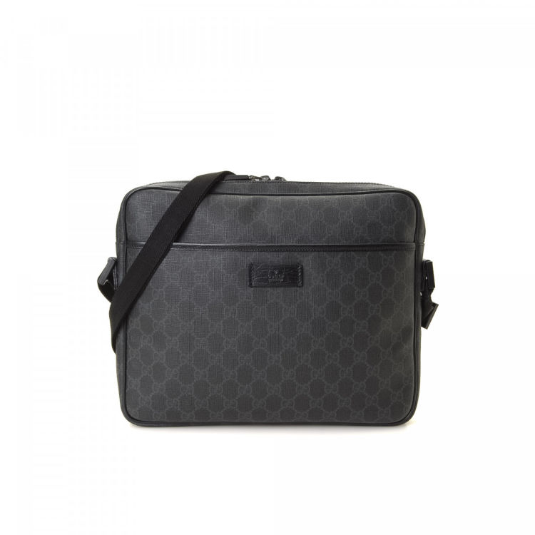 f7601aed26b8 Gucci GG Supreme Messenger Bag GG Supreme Coated Canvas - LXRandCo ...