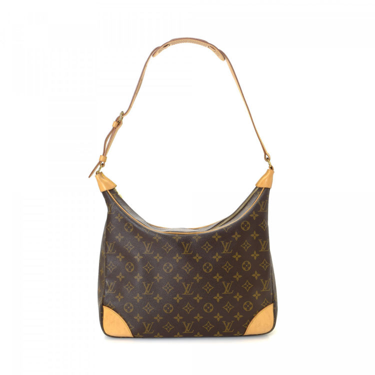 Louis Vuitton Boulogne 35 Monogram Coated Canvas - LXRandCo - Pre-Owned  Luxury Vintage 96382ed5aba8