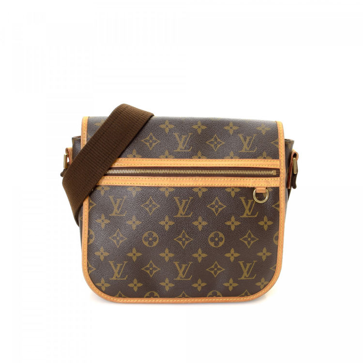 LXRandCo guarantees the authenticity of this vintage Louis Vuitton  Messenger Bosphore PM messenger   crossbody bag. Crafted in monogram coated  canvas a00ca689e0d04