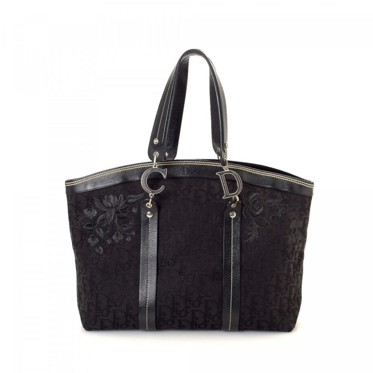 9903ea8b8e7f Dior Trotteur Tote Trotter Canvas - LXRandCo - Pre-Owned Luxury Vintage