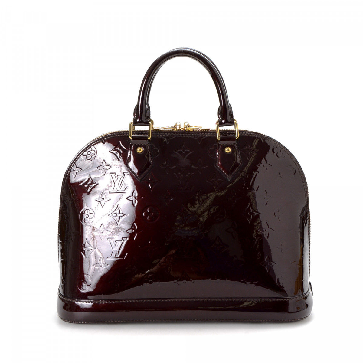 51a9556134 Louis Vuitton Alma PM with Strap Monogram Vernis Patent leather ...