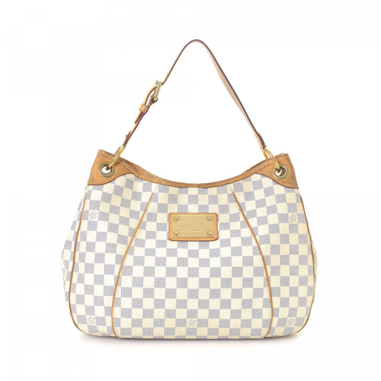 204b2f789 The authenticity of this vintage Louis Vuitton Galliera PM shoulder bag is  guaranteed by LXRandCo. Crafted in damier azur coated canvas, this lovely  bag ...