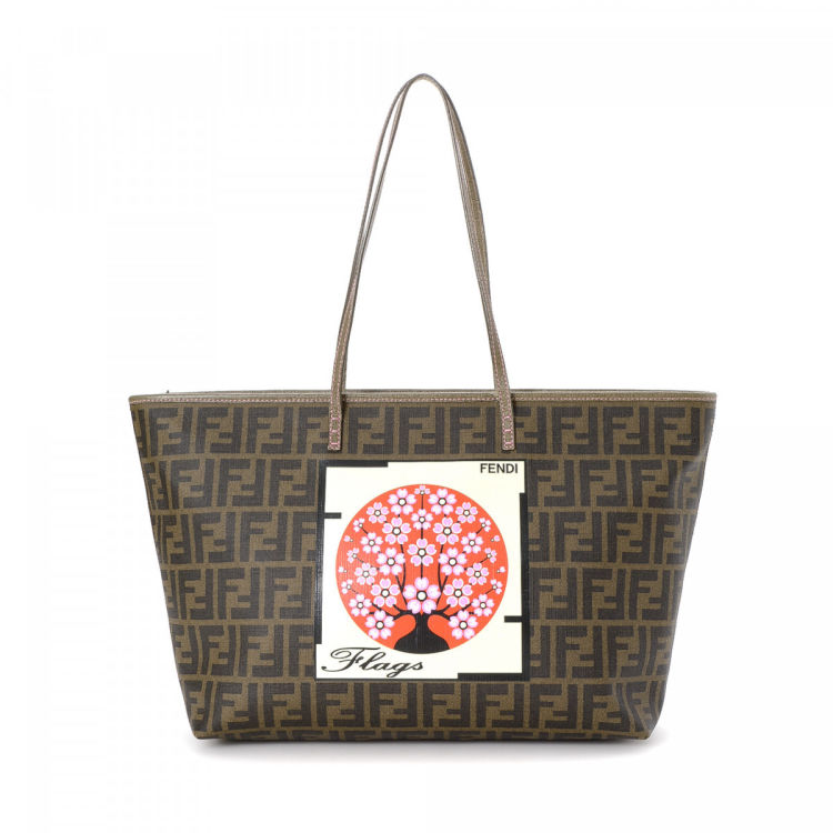 a029af9c8b41 Fendi Zucca Roll Tote Zucca Coated Canvas - LXRandCo - Pre-Owned Luxury  Vintage