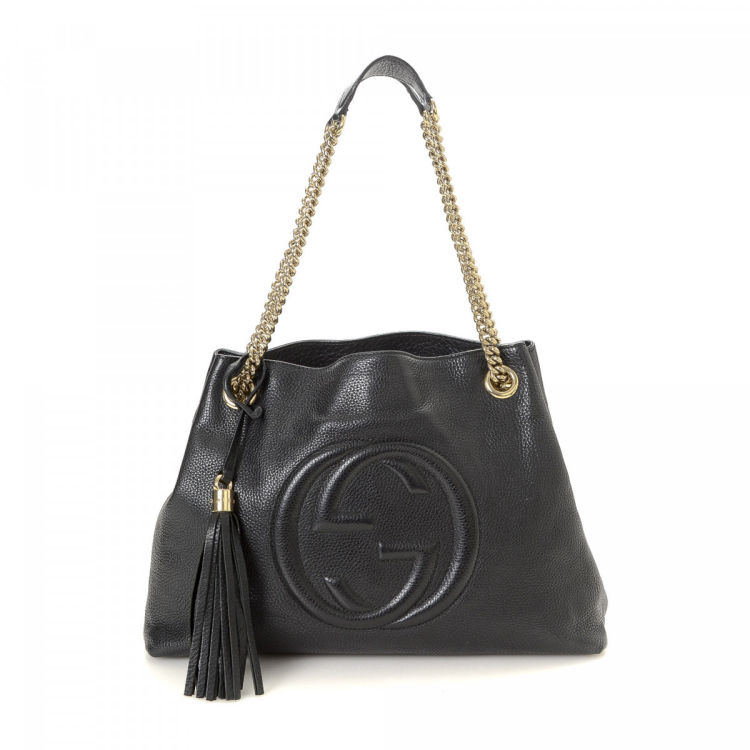 c0a30861851c9b Gucci Soho Chain Tote Bag Leather - LXRandCo - Pre-Owned Luxury Vintage