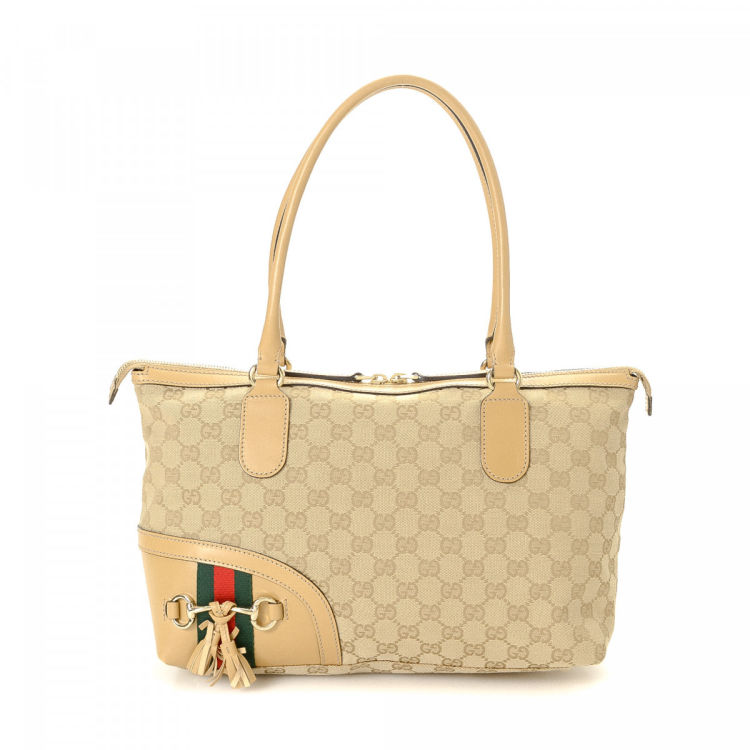 1d735d9a2 Gucci GG Canvas Emily Tote Bag GG Canvas - LXRandCo - Pre-Owned ...