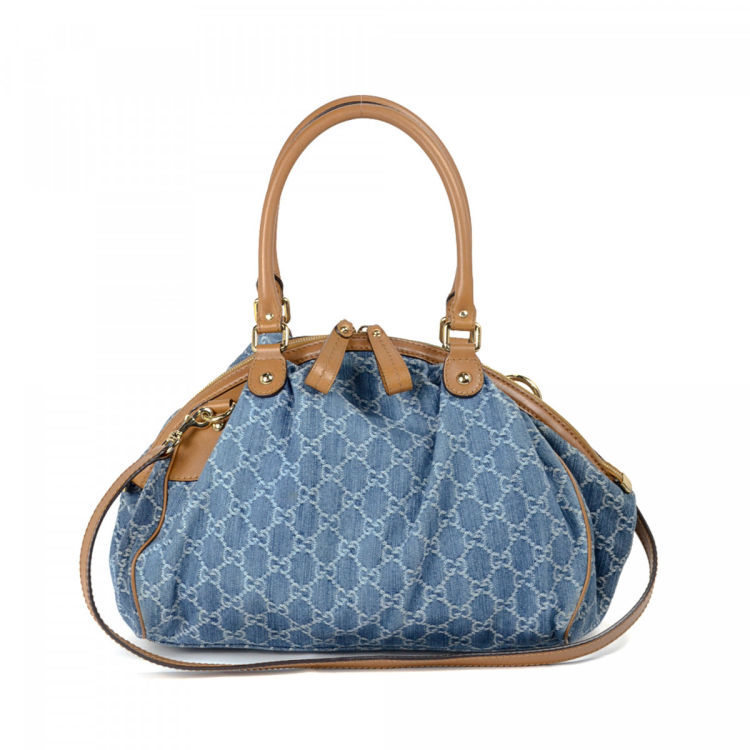 abe10be5cfe2 Gucci Sukey Shoulder Bag GG Denim - LXRandCo - Pre-Owned Luxury Vintage
