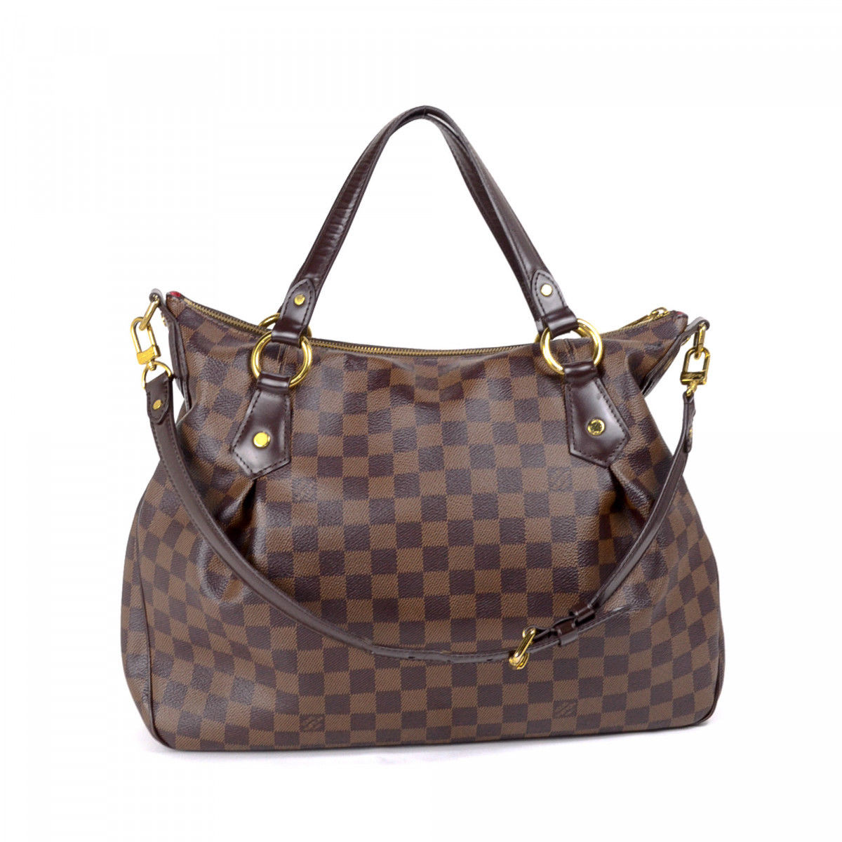618589c64cbf Louis Vuitton Evora MM Damier Ebene Coated Canvas - LXRandCo - Pre ...