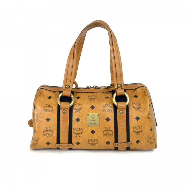 7d2ca849f MCM Leather Shoulder Bag Visetos Leather - LXRandCo - Pre-Owned ...