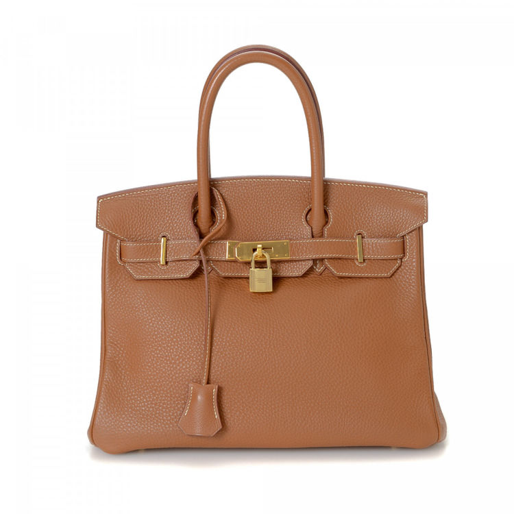 124d527fd0 LXRandCo guarantees this is an authentic vintage Hermès Birkin 35 Gold GHW  handbag. This iconic handbag was crafted in togo calf in hermes gold.