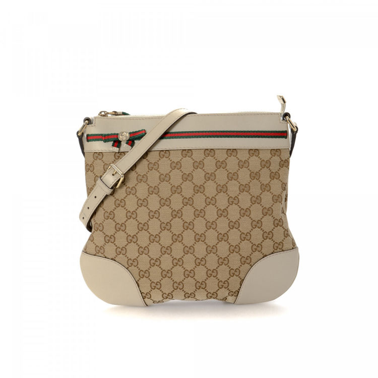 57f4f006e917 Gucci Mayfair Crossbody Bag GG Canvas - LXRandCo - Pre-Owned Luxury ...