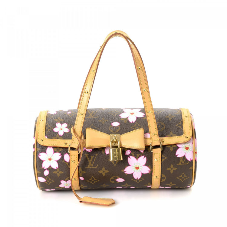 a51303dc3be9 ... Louis Vuitton Papillon 26 handbag. This stylish bag was crafted in  monogram cherry blossom coated canvas in beautiful brown. Very good  condition  (A)