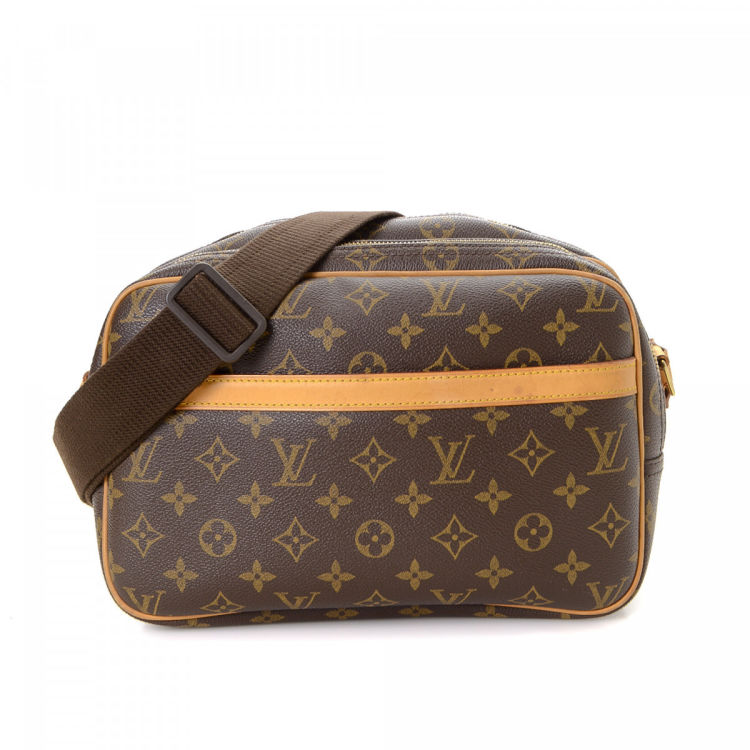 b585274525b50 LXRandCo guarantees this is an authentic vintage Louis Vuitton Reporter PM  messenger   crossbody bag. Crafted in monogram coated canvas