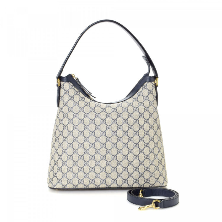 7577265062b Gucci GG Supreme Hobo Bag GG Supreme Coated Canvas - LXRandCo - Pre ...