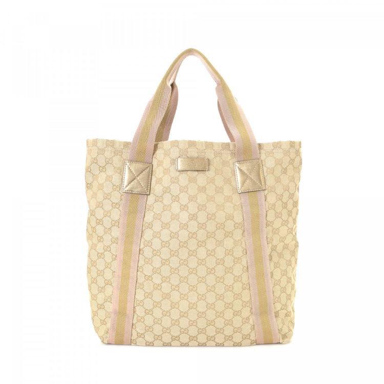 569758cf8322 Gucci GG Canvas Tote GG Canvas - LXRandCo - Pre-Owned Luxury Vintage