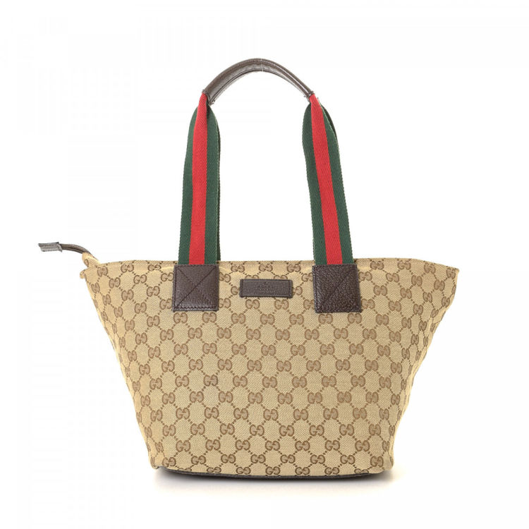 3283bca332b4 LXRandCo guarantees this is an authentic vintage Gucci Bag tote. Crafted in  gg canvas, this exquisite tote bag comes in beautiful beige.