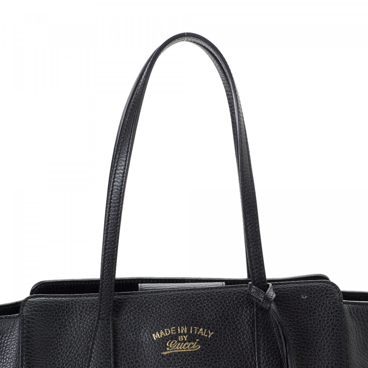 267954140f4e91 Gucci Swing Tote Bag Leather - LXRandCo - Pre-Owned Luxury Vintage