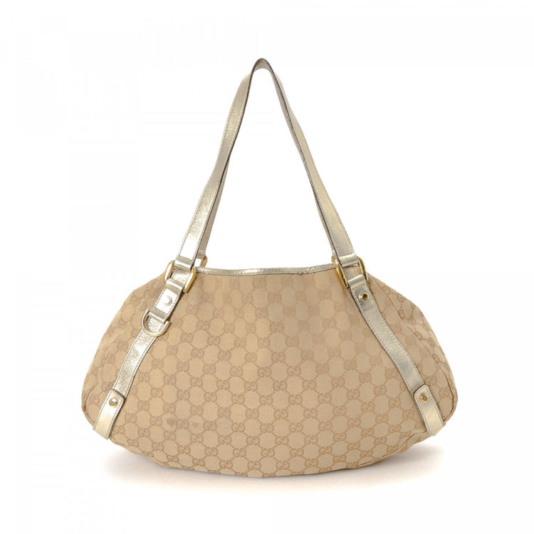 95dfcf278 Gucci GG Canvas Abbey Tote GG Canvas - LXRandCo - Pre-Owned Luxury ...