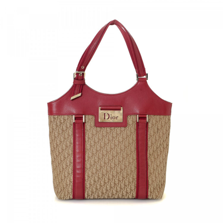 9e1e1c6610f0 Dior Trotter Tote Bag Trotter Canvas - LXRandCo - Pre-Owned Luxury ...