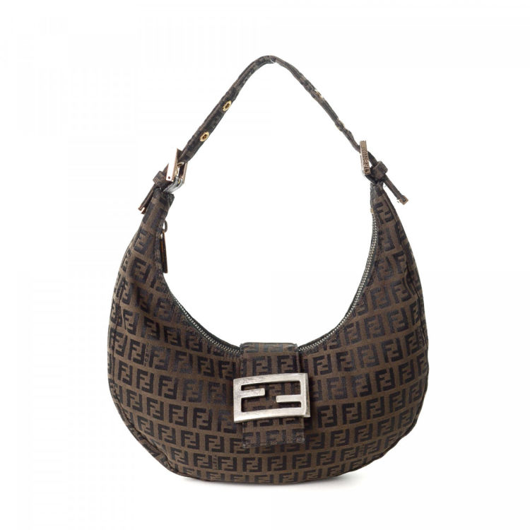 01ef7068f281 LXRandCo guarantees this is an authentic vintage Fendi shoulder bag. Crafted  in zucca canvas