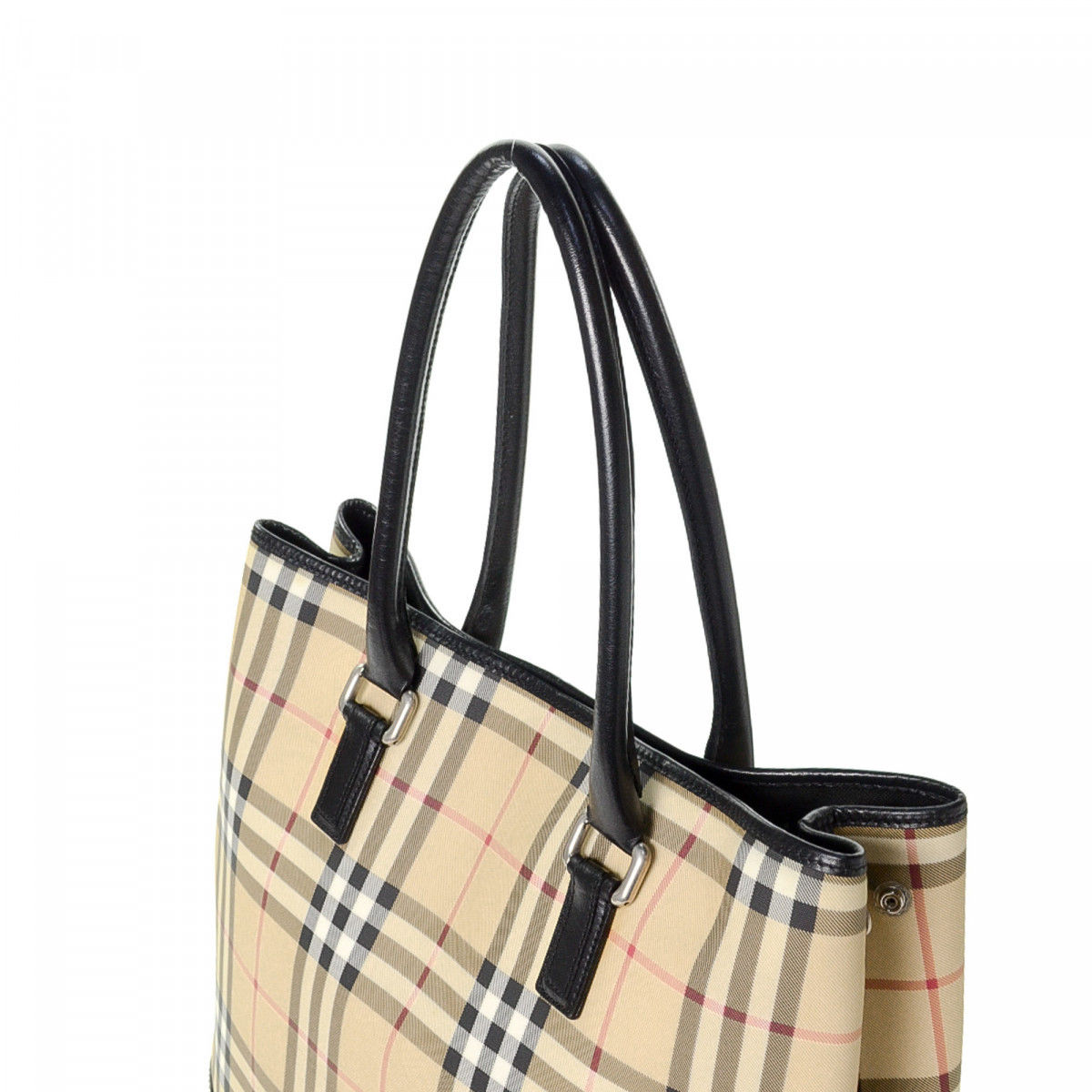 Burberry Haymarket Check Tote. The authenticity of this vintage Burberry  tote is guaranteed by LXRandCo. This exquisite work bag was crafted ... f2a6e2404c