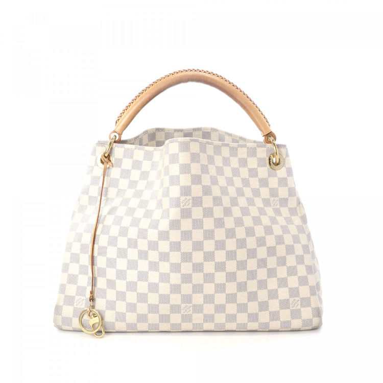 baf1cdb0c418 Louis Vuitton Artsy MM Damier Azur Coated Canvas - LXRandCo – Trésors d  occasion
