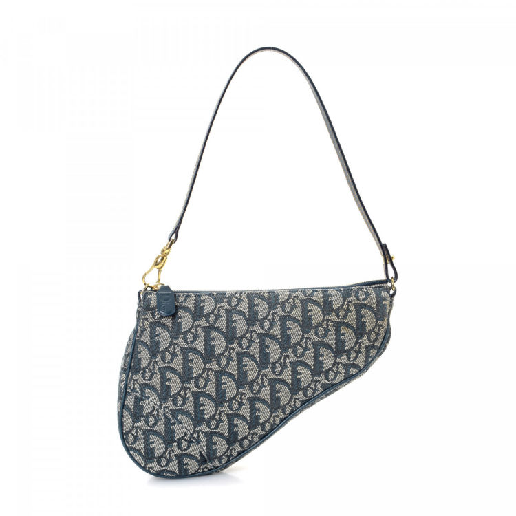 a2267f7fac00 Dior Trotter Handbag Trotteur Coated Canvas - LXRandCo - Pre-Owned ...