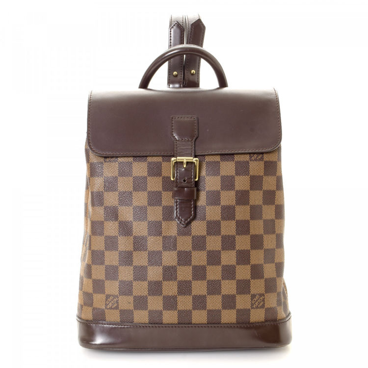 db1586716d9f LXRandCo guarantees the authenticity of this vintage Louis Vuitton Soho  backpack. This iconic backpack was crafted in damier ebene coated canvas in  brown.
