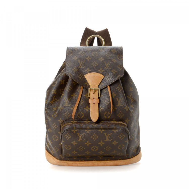 6ed248f59965 The authenticity of this vintage Louis Vuitton Montsouris GM backpack is  guaranteed by LXRandCo. Crafted in monogram coated canvas
