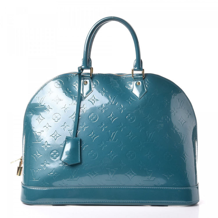 c51602ff487d ... Louis Vuitton Alma GM handbag. Crafted in monogram vernis patent leather