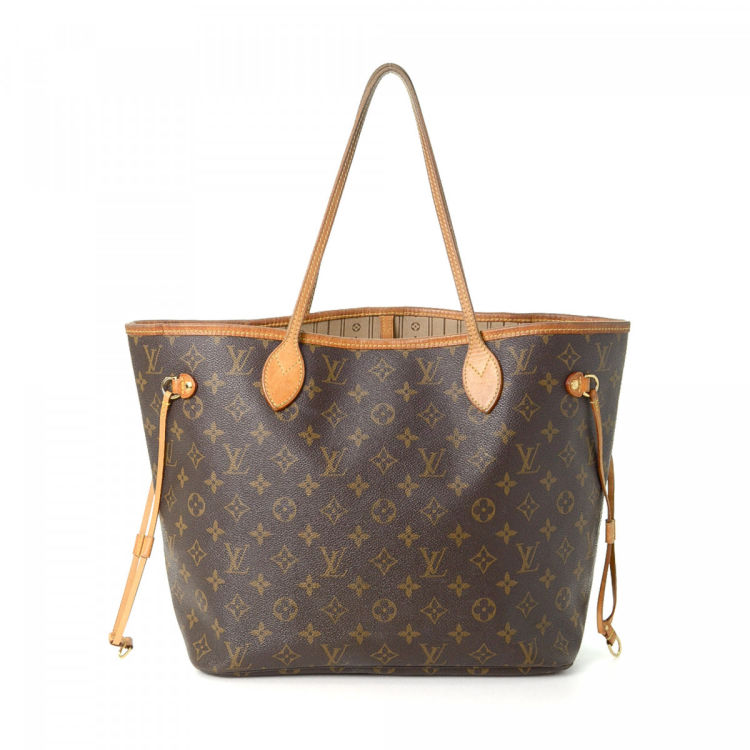 d587fc83f07e LXRandCo guarantees the authenticity of this vintage Louis Vuitton  Neverfull MM tote. Crafted in monogram coated canvas
