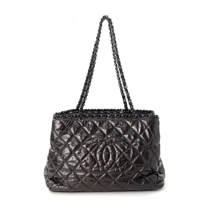 a06ef931dd7b Chanel Chain Tote Leather - LXRandCo - Pre-Owned Luxury Vintage