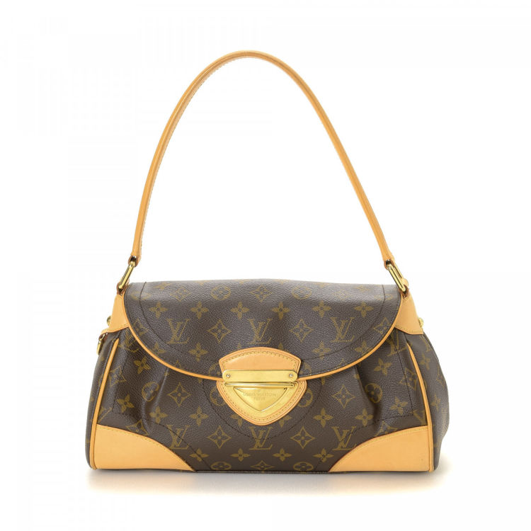 abc44715a23a LXRandCo guarantees the authenticity of this vintage Louis Vuitton Beverly  MM shoulder bag. This lovely bag in brown is made in monogram coated canvas.
