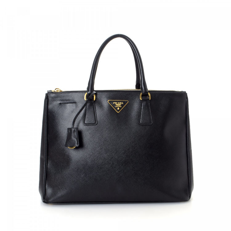 26b82bb4364d This product is in store at Lord & Taylor Burlington Mall. The authenticity  of this vintage Prada Galleria Double Zip Tote Large shoulder bag ...