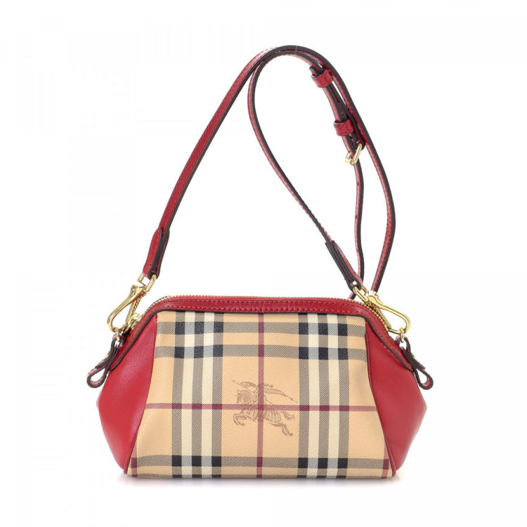 f88fca238d9b The authenticity of this vintage Burberry Mini shoulder bag is guaranteed  by LXRandCo. This iconic satchel in beautiful two-tone is made in haymarket  check ...