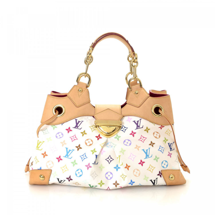 faef0561e5fd LXRandCo guarantees this is an authentic vintage Louis Vuitton Ursula tote.  Crafted in monogram multicolore coated canvas