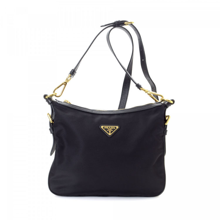 0899978c263d LXRandCo guarantees this is an authentic vintage Prada Crossbody Bag  messenger & crossbody bag. This exquisite satchel in beautiful black is  made in tessuto ...