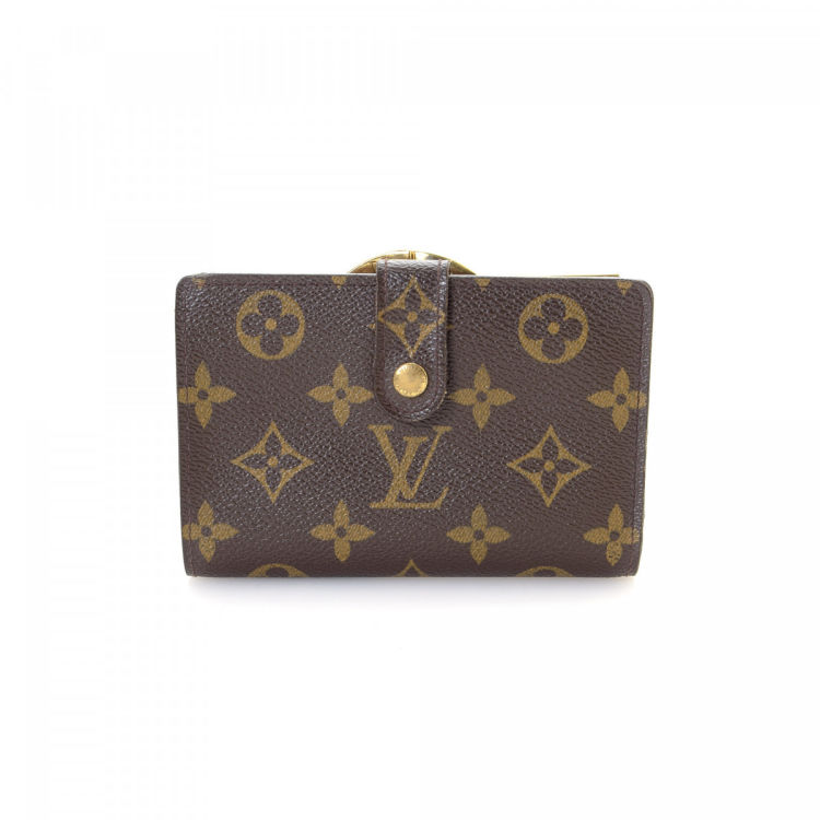The authenticity of this vintage Louis Vuitton French Purse wallet is  guaranteed by LXRandCo. This signature wallet in brown is made in monogram  coated ... c4fb2c73816
